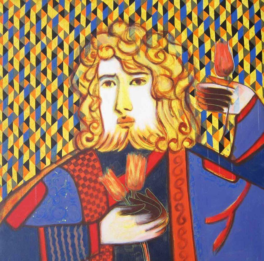 The Prince an acrylic painting on canvas by Rajesh Choudhari