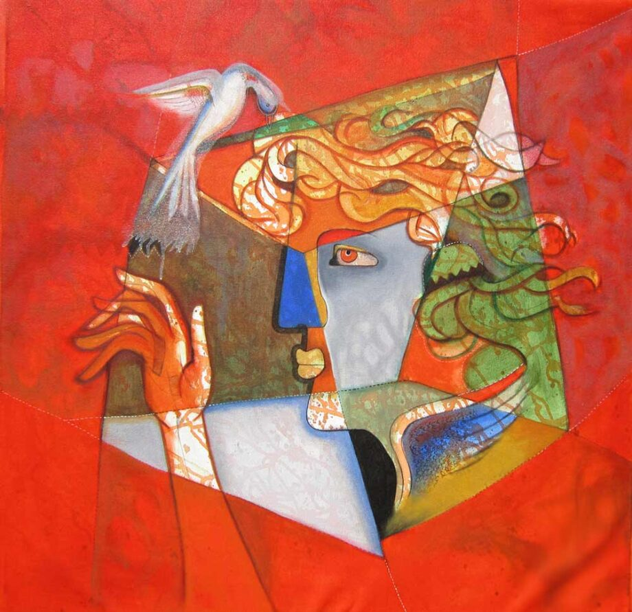 Untitled 1 an Acrylic Painting by Rajesh Choudhari