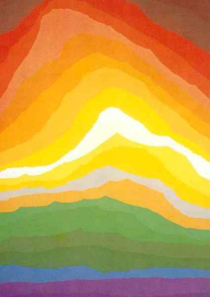 Volcano a serigraph by Arthur Secunda