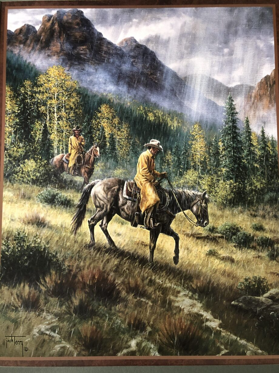 Cowboys in the Rain by Jack Terry cowboy artist