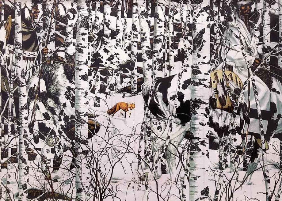 Bev Doolittle art print titled Woodland Encounter