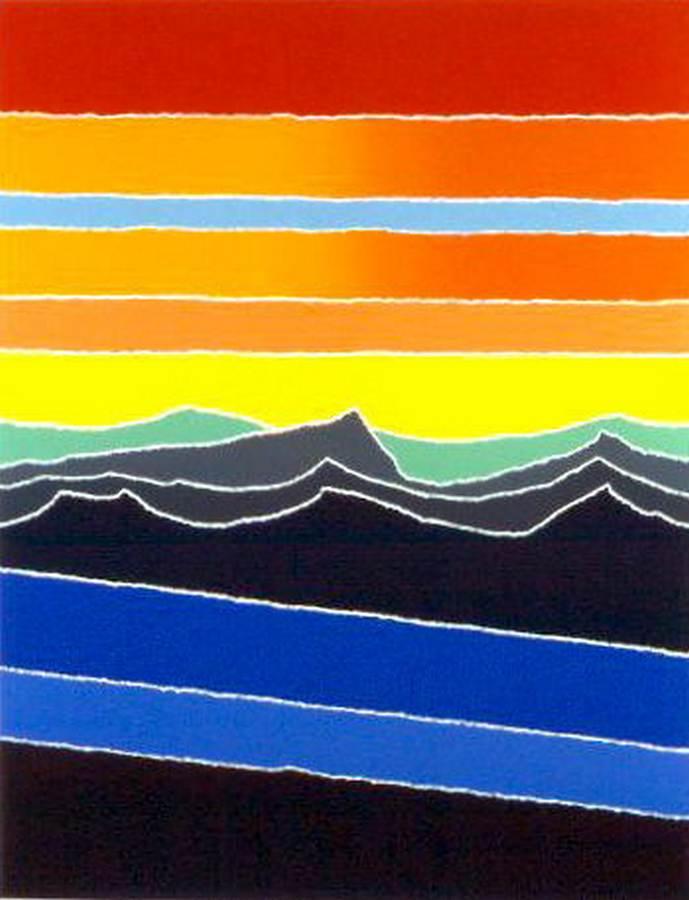 Blue Stream a silkscreen print by Arthur Secunda