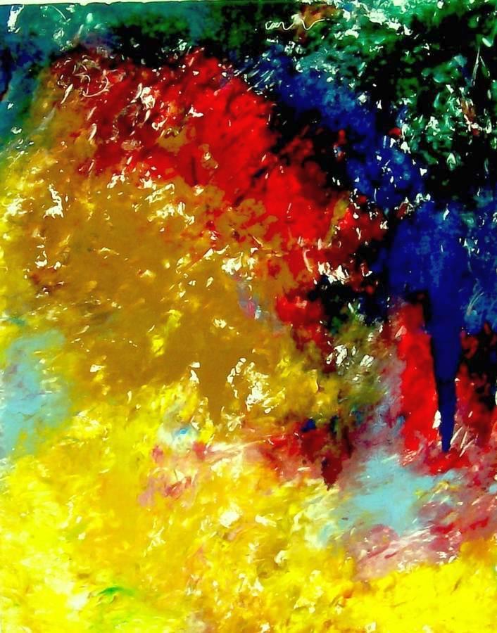 Burning Bush a framed monotype by international artist Arthur Secunda
