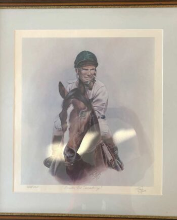 Fred Stone race horse artist limited edition art print Exceller Bill Shoemaker