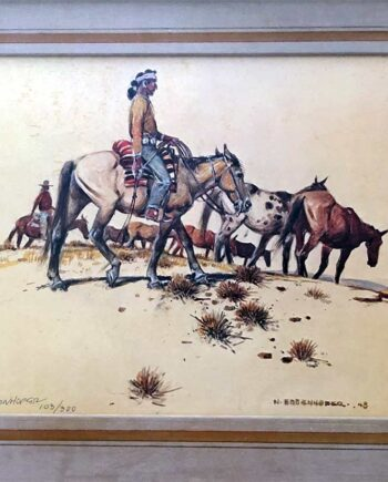 Horses horses Always Horses by Nick Eggenhofer famous western artist and illustrator