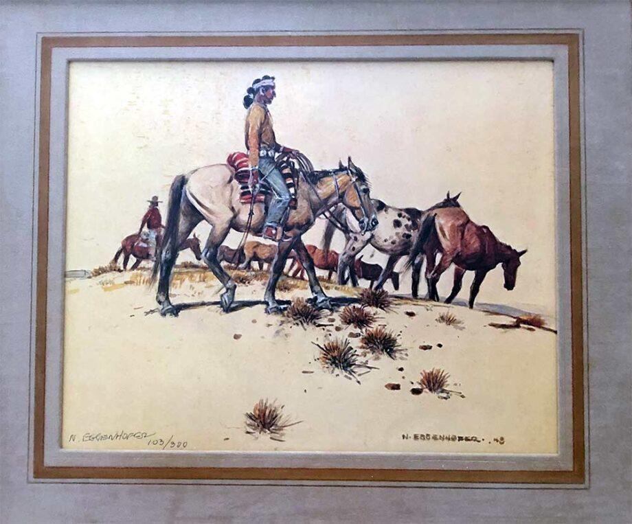 Horses horses Always Horses by Nick Eggenhofer famous western artist and illustrator
