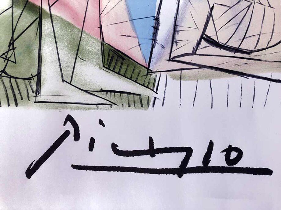 Pablo Picasso lithograph Joueur de Flute et Gazelle - Picasso Estate Collection