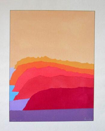 Cassis a pochoir print by international artist Arthur Secunda