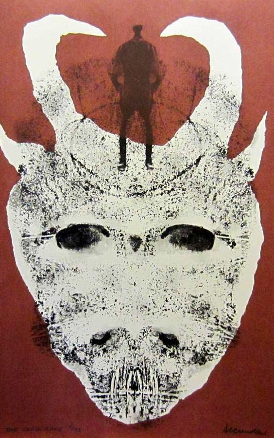 Conscience a silkscreen print by Arthur Secunda