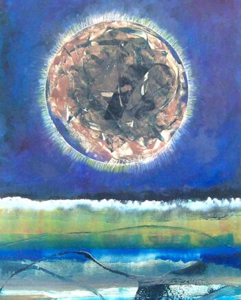 Eclipse a monotype print by Arthur Secunda
