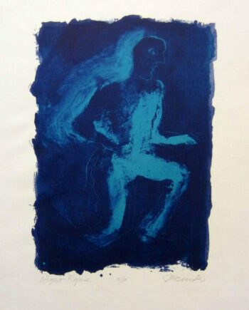 Night Figure a lithograph from 1971 by Arthur Secunda