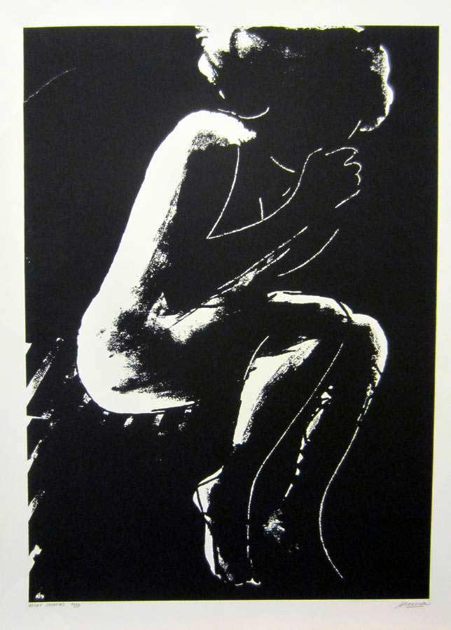 Night Shadows a lithograph by international artist Arthur Secunda