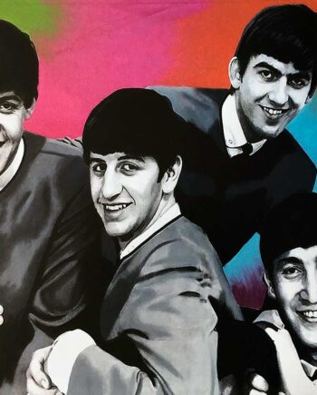 The Beatles by artist Steve Kaufman