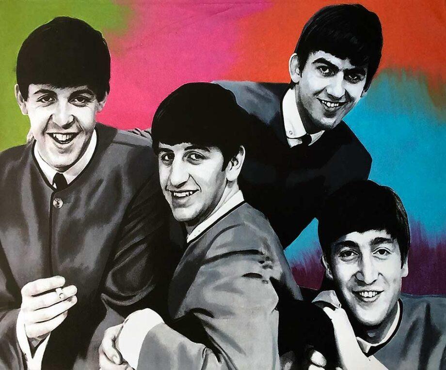 The Beatles by artist Steve Kaufman