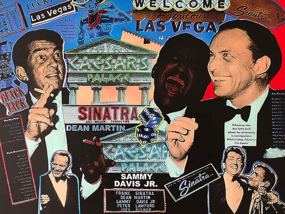 The Rat Pack art print on canvas by artist Steve Kaufman