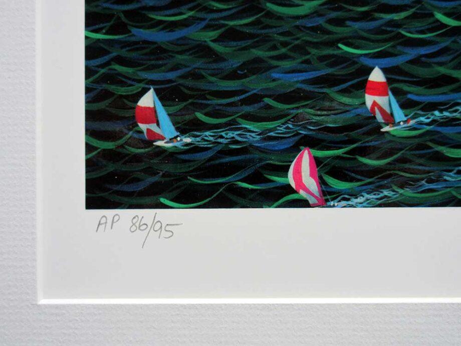 Alexander Chen hyperreality lithograph Miami Cruising