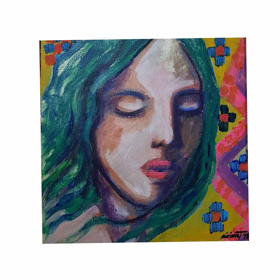 acrylic art painting on canvas Amulets and Symbols No. 4 by Muruvvet Durak