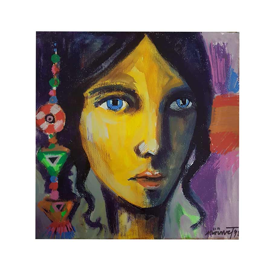 acrylic art painting on canvas Amulets and Symbols No. 6 by Muruvvet Durak