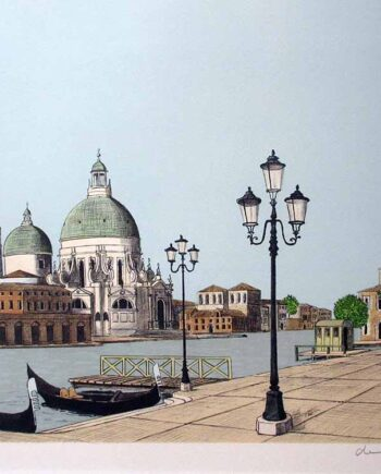 French artist Denis Paul Noyer - limited edition lithographic print San Marco