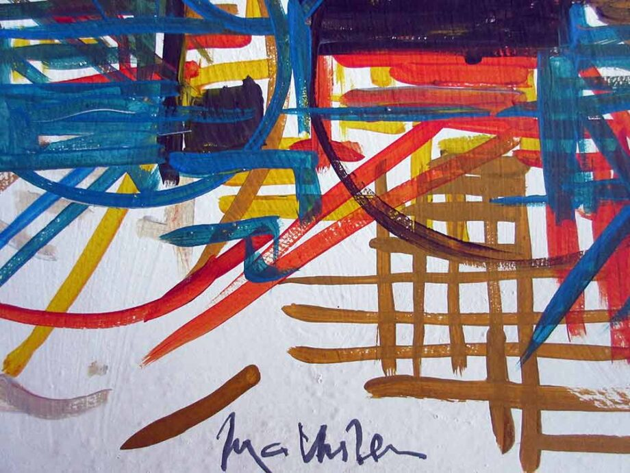 Georges Mathieu an oil painting French Lyrical Abstract Composition