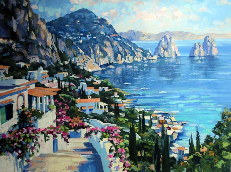 Howard Behrens Isle of Capri a serigraph art print