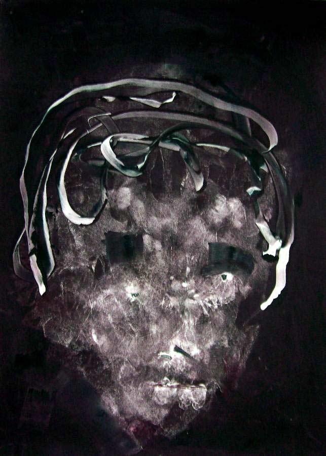 Jazz Suite by artist Arthur Secunda - Miles a monotype print