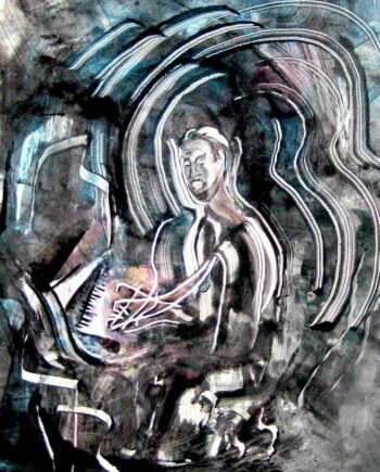 Jazz Suite by artist Arthur Secunda - Nat King Cole monotype