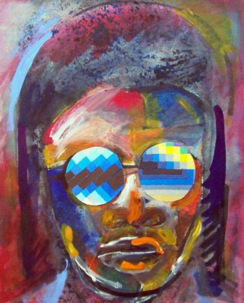 Stevie Wonder a monotype art print by Arthur Secunda