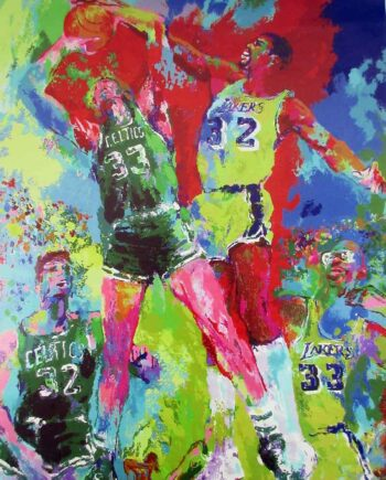 LeRoy Neiman canvas print Magic & Bird