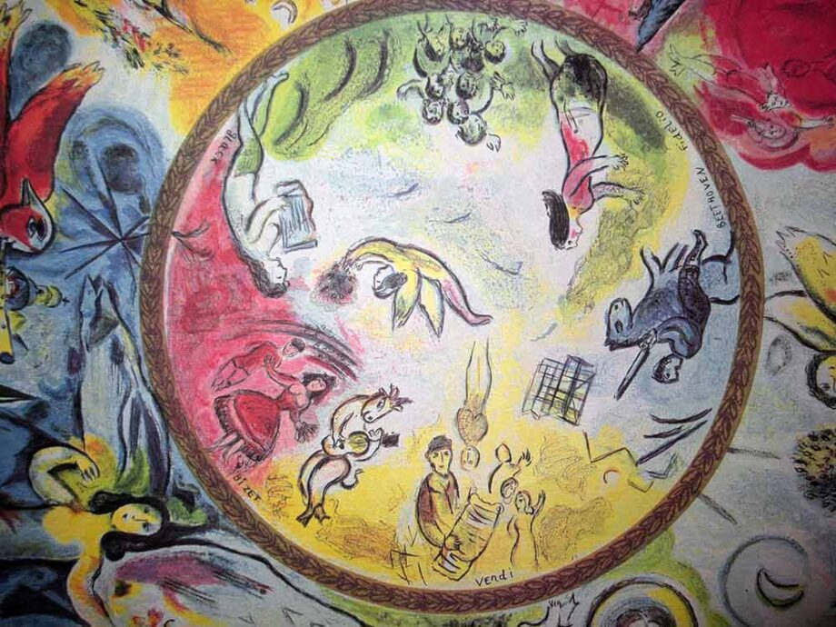 Marc Chagall a lithographic print Paris Opera Ceiling