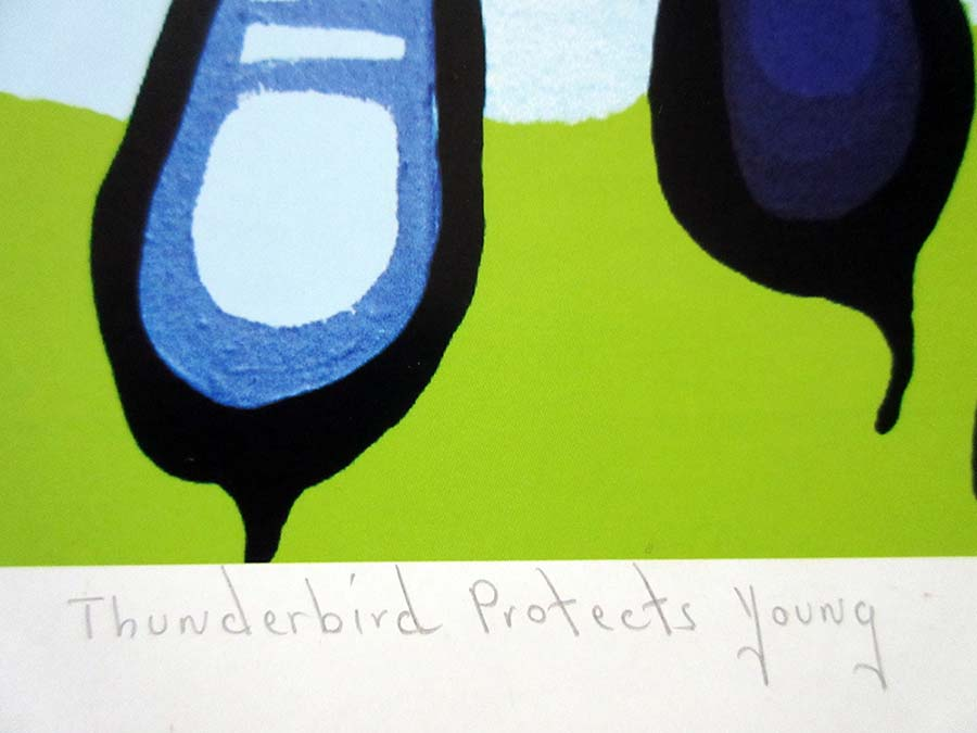 Norval Morrisseau - Thunderbird Protects Young