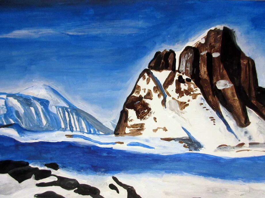 Rockwell Kent acrylic on paper Morning Noon and Night