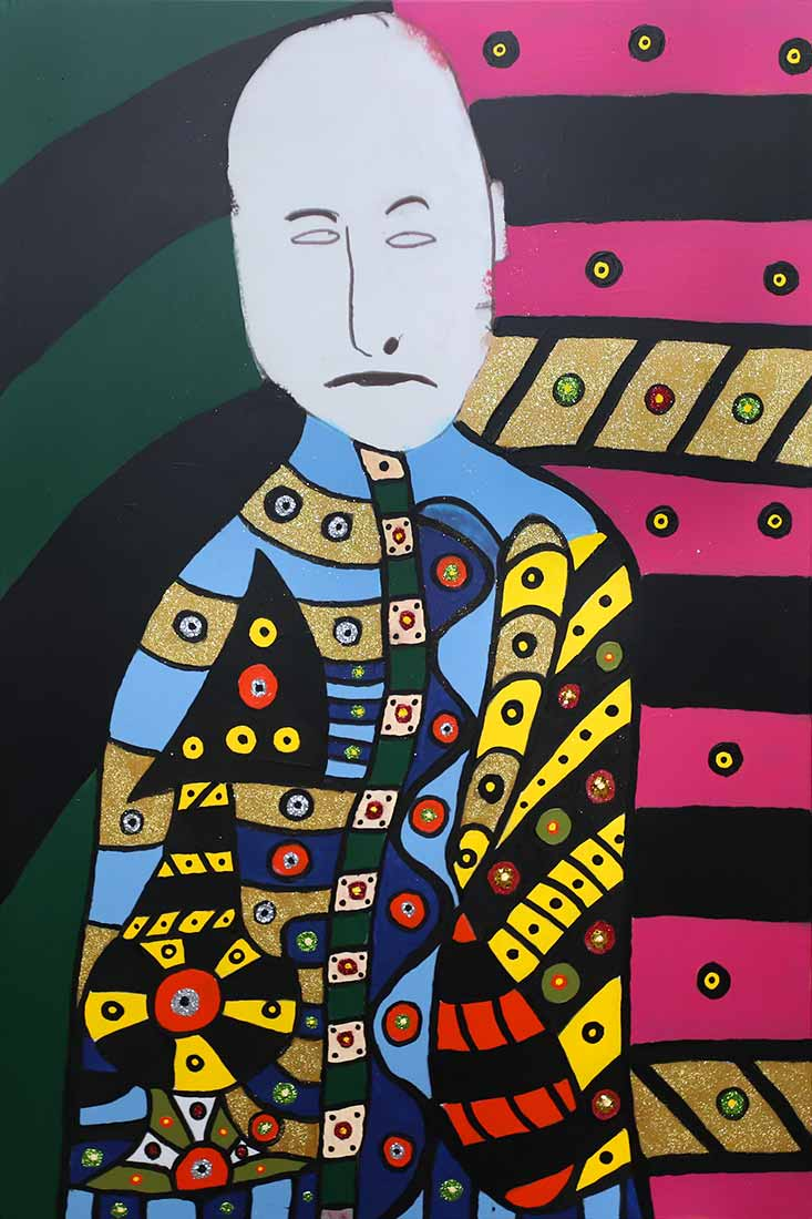 acrylic art painting Ghost Man by artist Roland Roberge