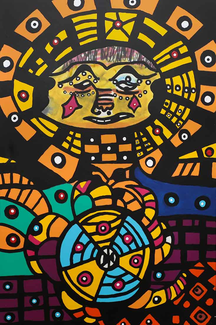 acrylic art painting Mother and Child by artist Roland Roberge
