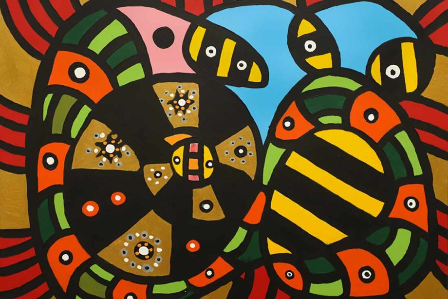 acrylic painting Mr. & Mrs... by international artist Roland Roberge