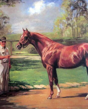Helen Hayse noted horse racing artist Secretariat - 1973 Triple Crown Winner