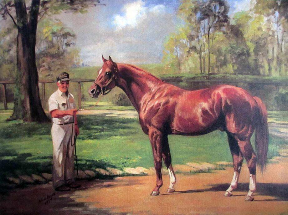 Helen Hayse noted horse racing artist Secretariat - 1973 Triple Crown Winner