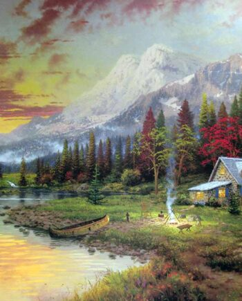 Thomas Kinkade art print Beginning of a Perfect Evening
