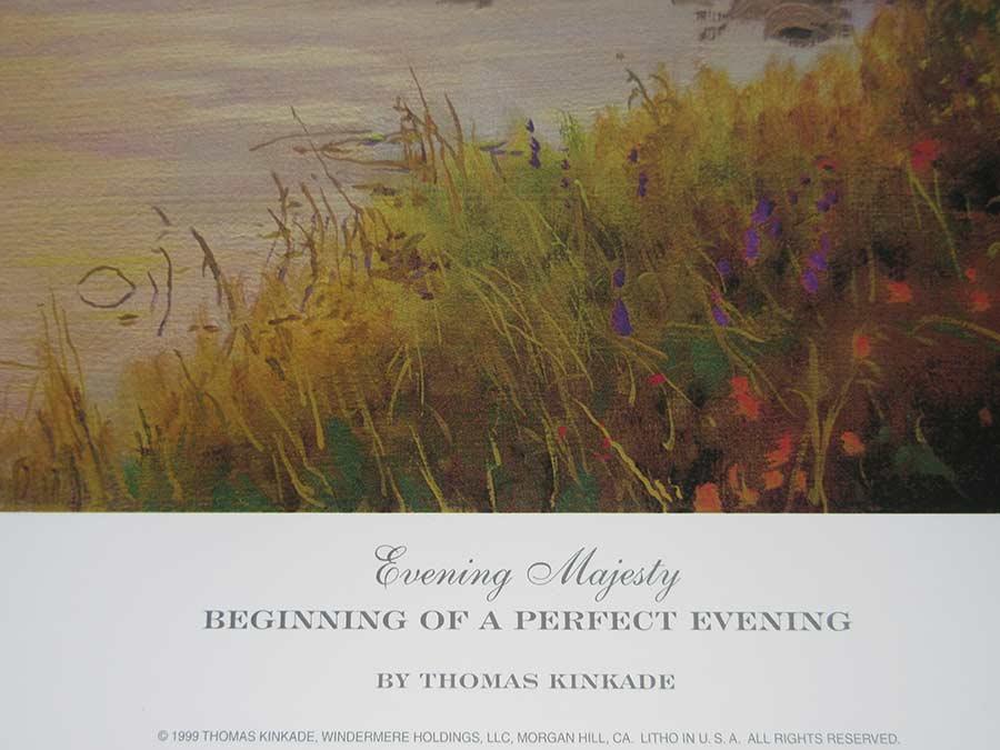 Thomas Kinkade art print Beginning of a Perfect Evening