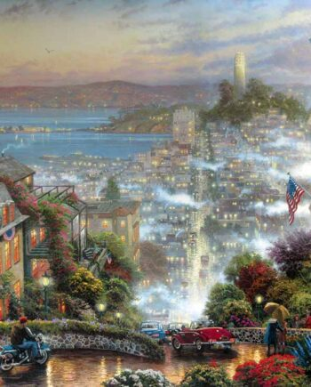 San Francisco Lombard Street an art print by The Painter of Light Thomas Kinkade
