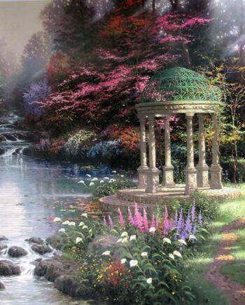 Thomas Kinkade the Painter of Light limited edition art print The Garden of Prayer