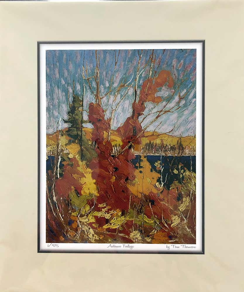 Autumn Foliage a lithographic print by Tom Thomson