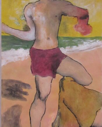 Portrait of a Man a Gouache painting on paper by artist R.B.Kitaj