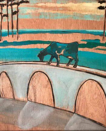 Christy Aitken art mixed-media titled Aqua duct