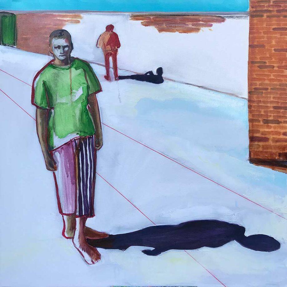 Christy Aitken art mixed-media titled Disconnect Shadows II
