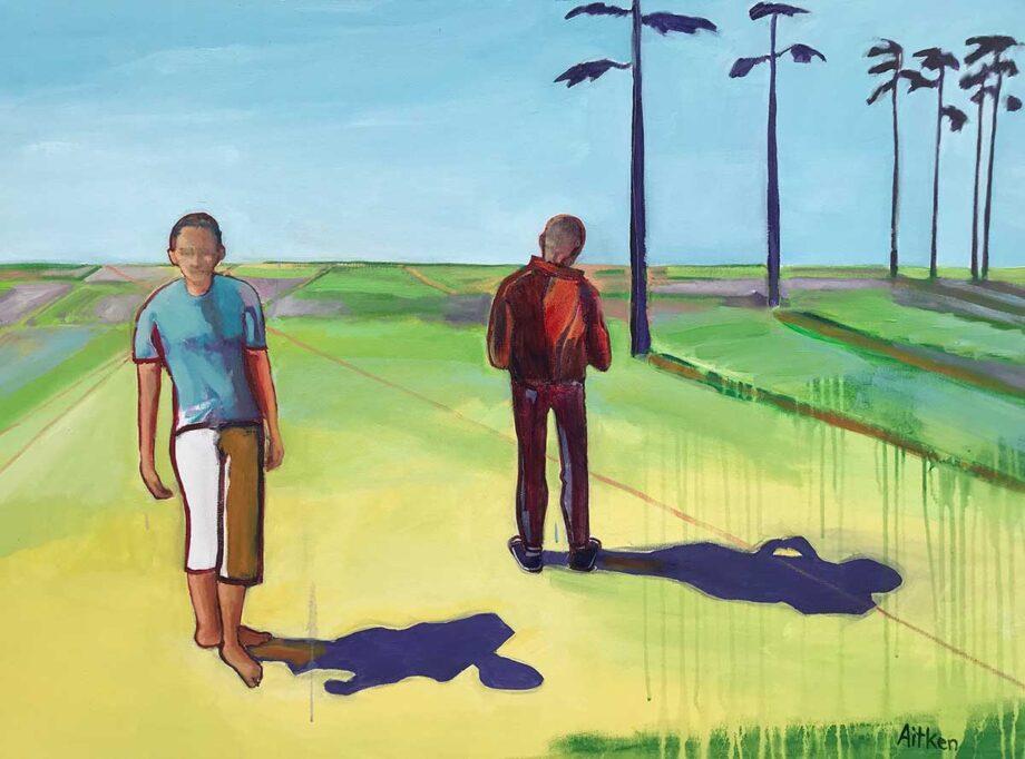 Christy Aitken art mixed-media titled Disconnect Shadows 1