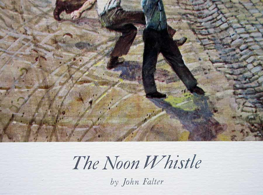 John Falter - American Artist - The Noon Whistle, lithographic print