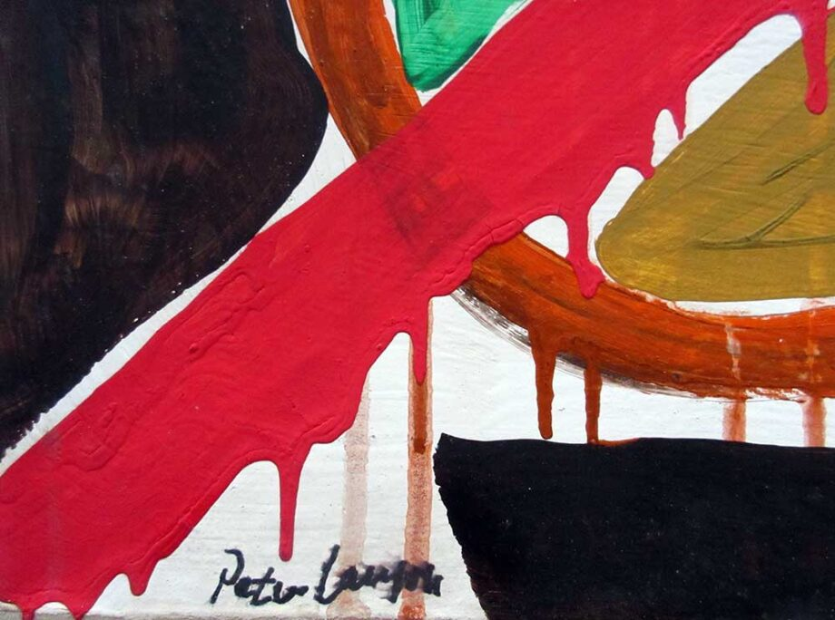 Peter Lanyon - an oil painting on canvas titled Abstract