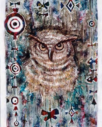 Wisdom a mixed-media painting by artist Muruvvet Durak