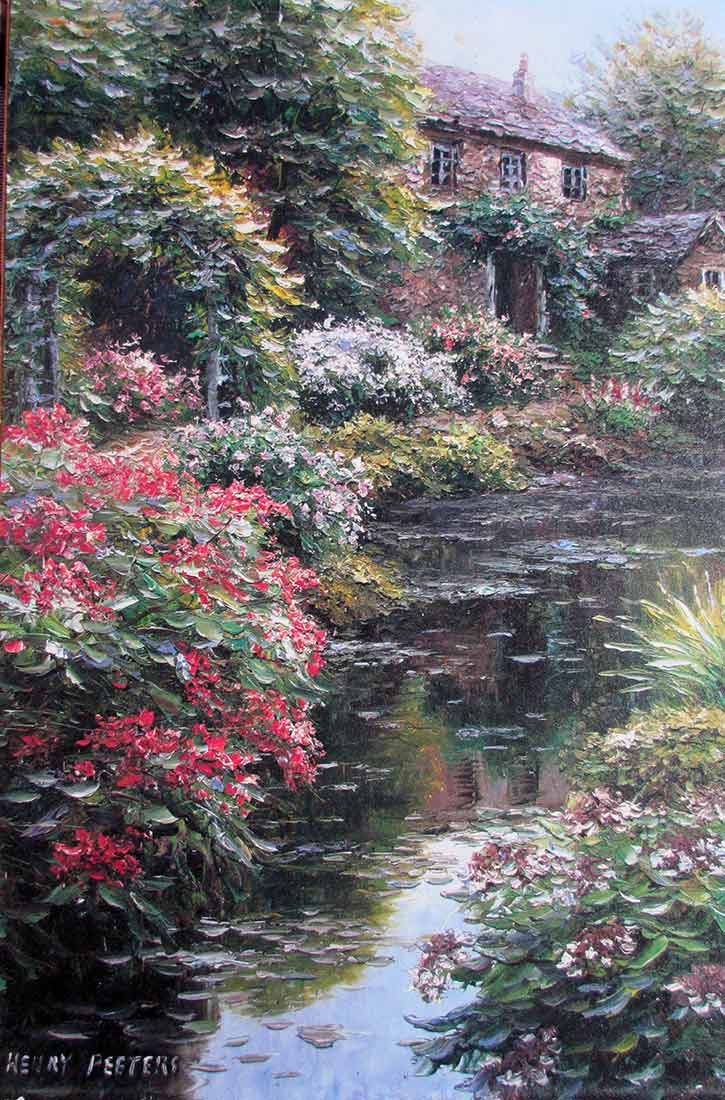 Litchfield Arbor a giclee on canvas by Chinese artist Henry Peeters